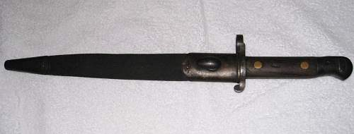 Canadian 1893 Bayonet for the Martini Metford Rifle