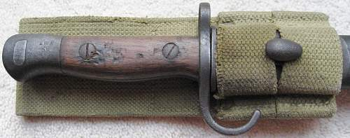 Two 1907 Hooked Quillion Bayonets
