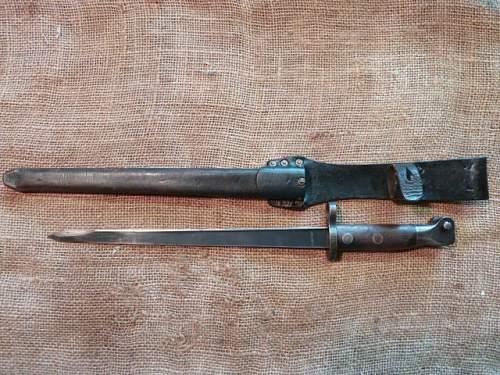German captured/modified Dutch M1895 rifle bayonet