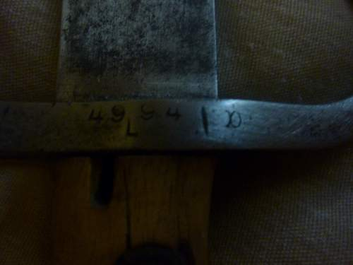 A Brazilian M 1908 Bayonete, but it is kind of different....