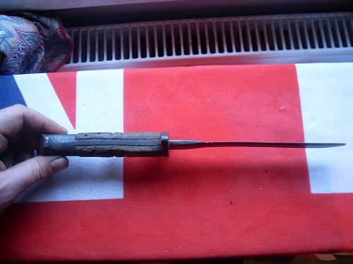 cutdown ww1 british/u.s bayonet