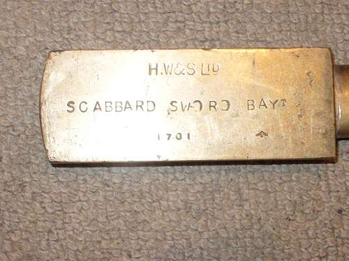 Brass bayonet