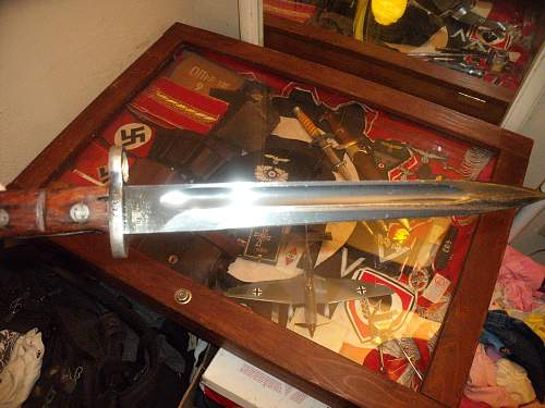 Mauser Bayonet marked 44