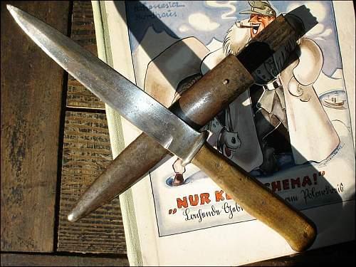 German interesting  fighting knife.