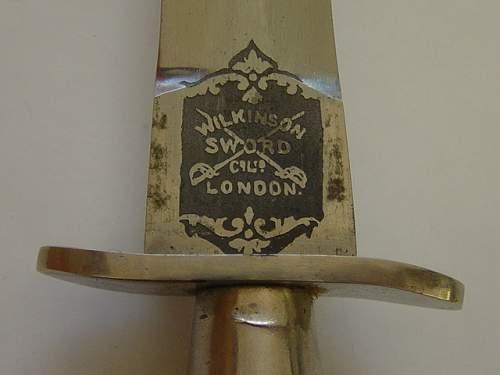 Click image for larger version.  Name:1st pattern F-S knife. Wilkinson Sword maker mark..jpg Views:284 Size:140.8 KB ID:257847
