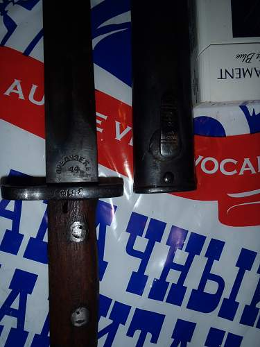 Bayonets bought in a Russian village