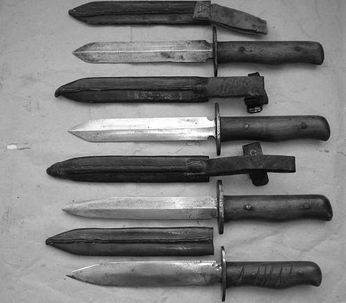 unknown fighting knives ...