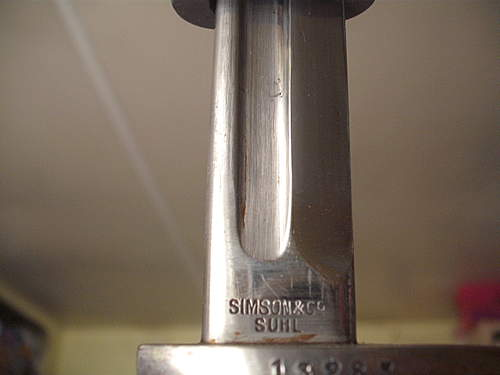peruvian m1909 gew 98 mauser bayonet