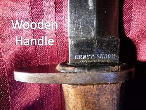 Ernst Busch Made WW1 German Trench Knives