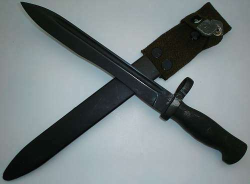 CETME bayonet, spanish made export-version for Guatemala
