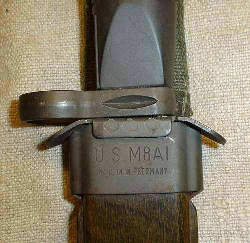 "danish ""long bladed"" assault rifle bayonet"