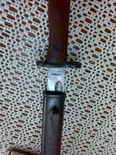 Bayonet marking?