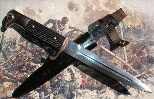 trench knife, also, a bayonet