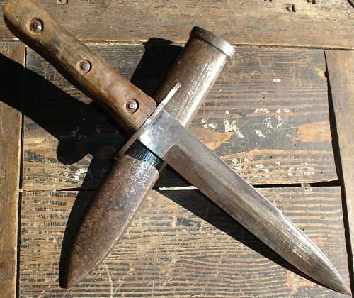 """numbered"" Italian ""M 39"" combat knife"