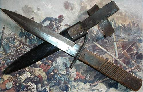 German WWI  DEMAG trench knife