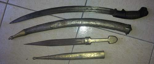 Ottoman/Caucasian short Sabre with parts of  Prussian Sabre Mod. 1889  - Help -