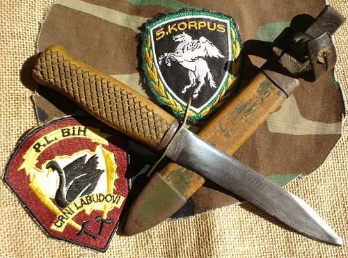 Yugoslavian fighting knife.