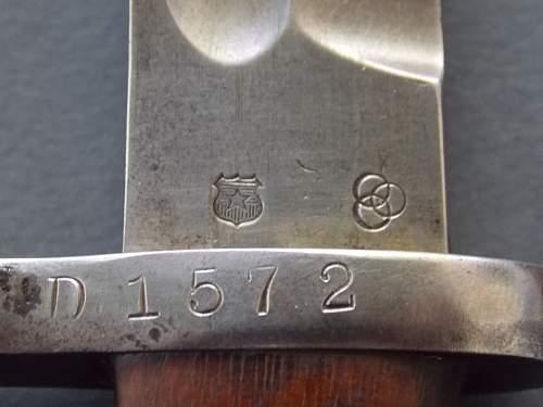 Bayonet identification/confirmation.