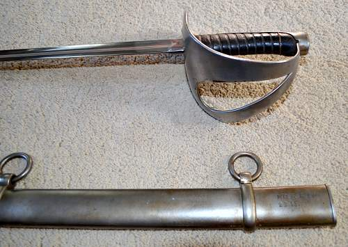 Unit marked Danish model 1843 sword;need help identifying regiments