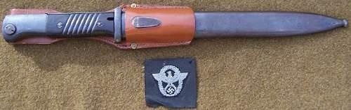 German Combat 84/98III Police Bayonet