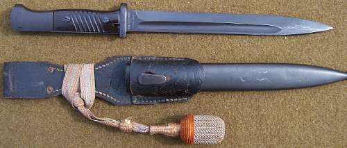 Reichs Postal Police Combat Bayonet