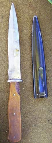 German WW2 Trench Knife fnj code