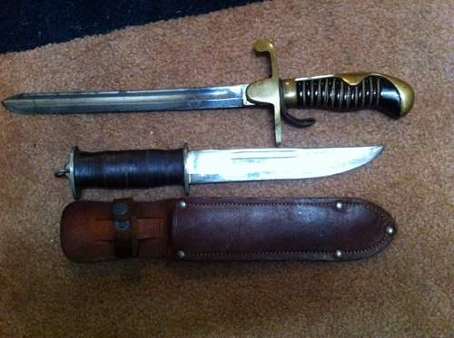 Estate sale knife cut down from sword?