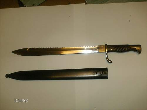 German sawback m98/05 bayonet