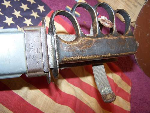 USMC marked USN MK2 with trench knuckle