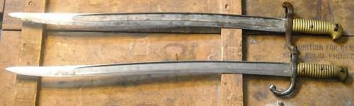French 1842/59 yatagahn bayonet