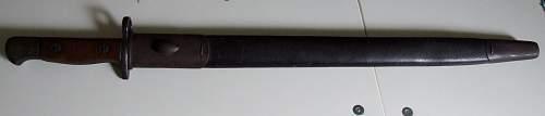 British Enfield P-1907 Hook Quillon Bayonet