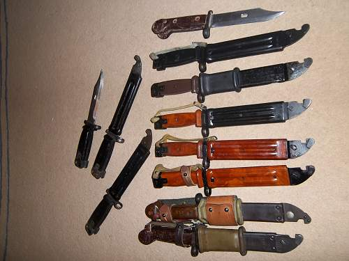 some AK47 bayonets