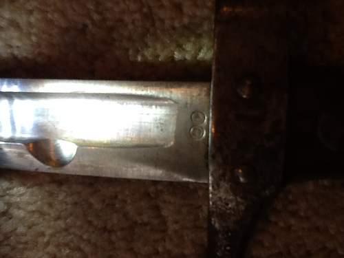 ww1 bayonet, need identification help!