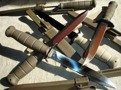 """""""chromed"""" GLOCK FMsr 78, (""""Field Knife 78 Pattern"""")"""