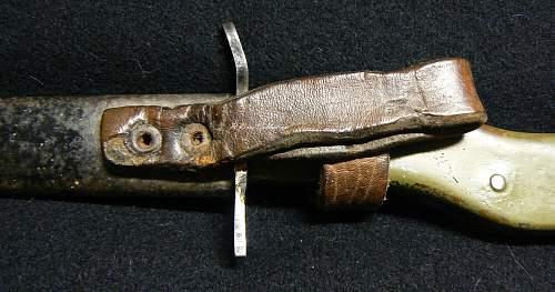 Demag Crank Handle Trench Knife/Bayonet