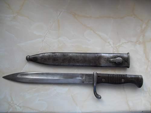 Turkish conversion and German made Spanish bayonets