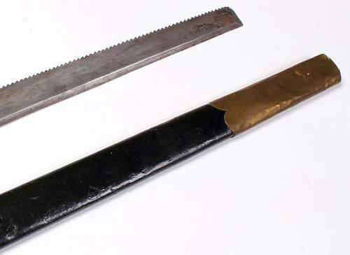 19 century Faschinenmesser Pioneer sword , Fireman's or Forestry