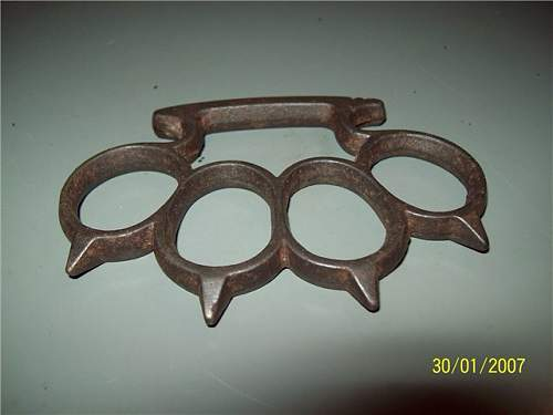 Antique Iron Spike Knuckle Duster question?