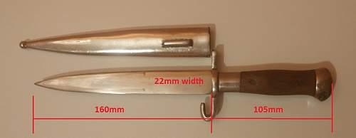 Austrian - Zeilter made dagger identification Austrian, Romanian?