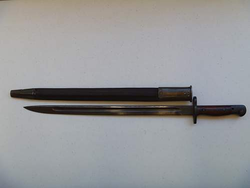 Lithgow P1907 bayonet marked for South African Police (SAP)