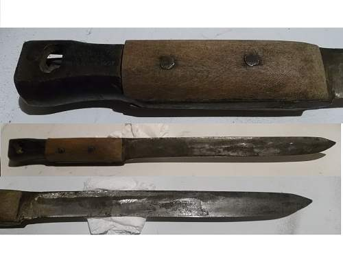 Knife made from a Ross Bayonet