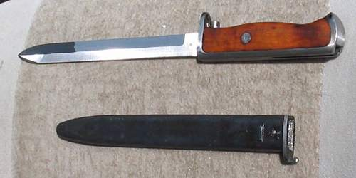 Norwegian/German produced model 94 bayonet