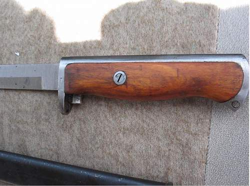 Norwegian/German produced model 94 bayonet