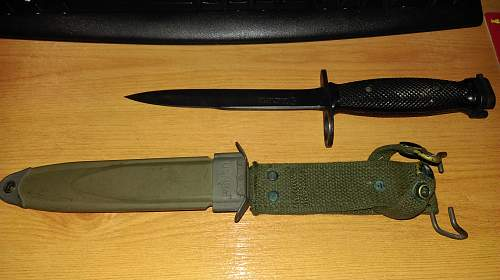 M7 bayonet and M8A1 scabard