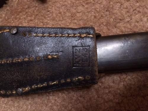 Austrian 1895 bayonet question