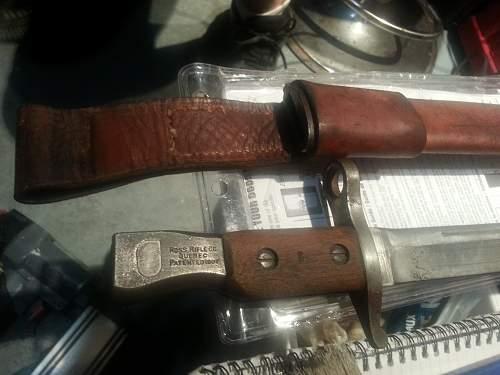 Ross Rifle Co, Quebec 1907 bayonet