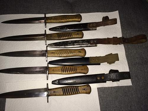 My Fighting Knives.