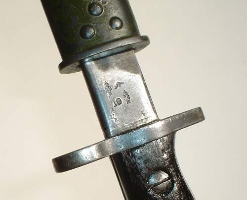 """""""Green"""" SMLE P1907 bayonet"""