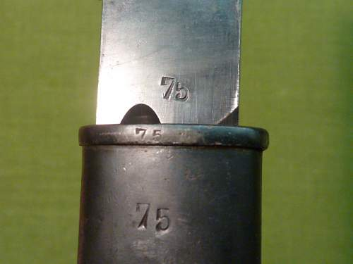 Yugoslav Model 1924 bayonets, original production and German captured