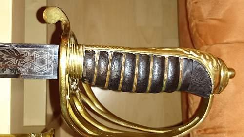 British infantry dress sword 1897 pattern maybe.